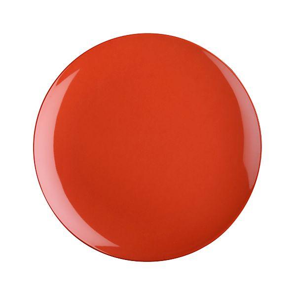 """Andros Orange 10.5"""" Melamine Dinner Plate"""