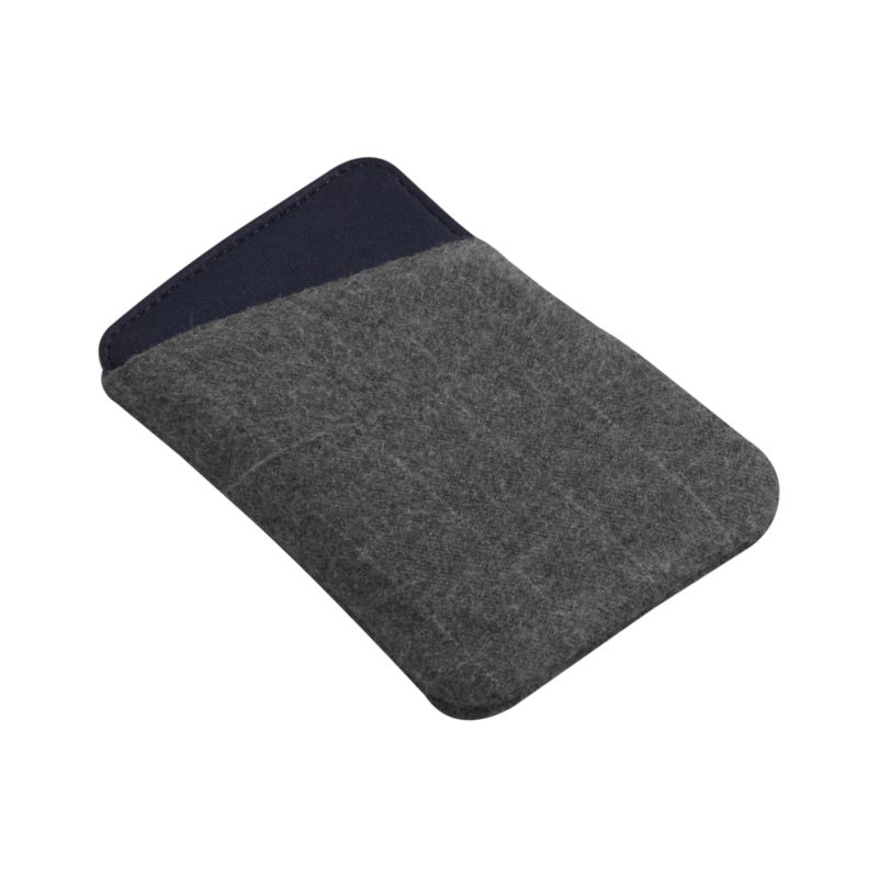 Classic grey sleeve protects and cushions cell phones with a durable, water-resistant polyester casing and neoprene interior. Angled exterior stores pocket keys, money and more with easy access.<br /><br /><NEWTAG/><ul><li>100% polyester exterior</li><li>100% neoprene interior</li><li>Water-resistant</li><li>Clean with a damp cloth</li></ul>