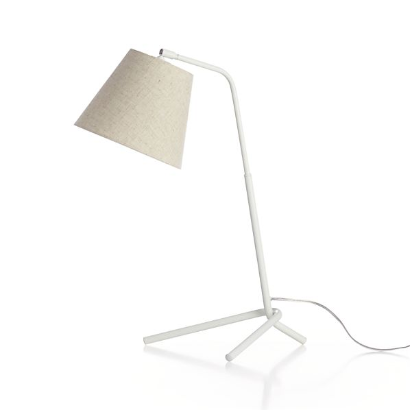 Angle White Table Lamp