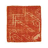 "Anice Orange 12"" sq. Rug Swatch"