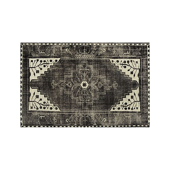 Anice Black Rug Crate And Barrel