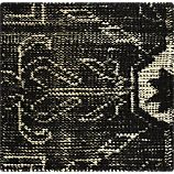 "Anice Black 12"" sq. Rug Swatch"