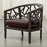 Ankara Truffle Frame Chair and Leather Cushion