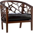 Ankara Java Frame Chair with Leather Cushion.