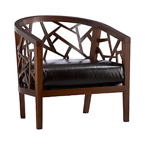 Ankara Chair with Leather Cushion