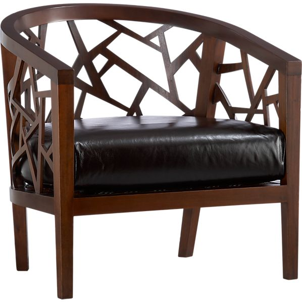 Ankara Java Frame Chair With Leather Cushion In Chairs