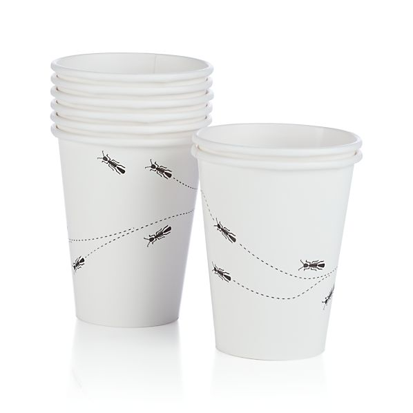 Ants Paper Cups Set of Eight