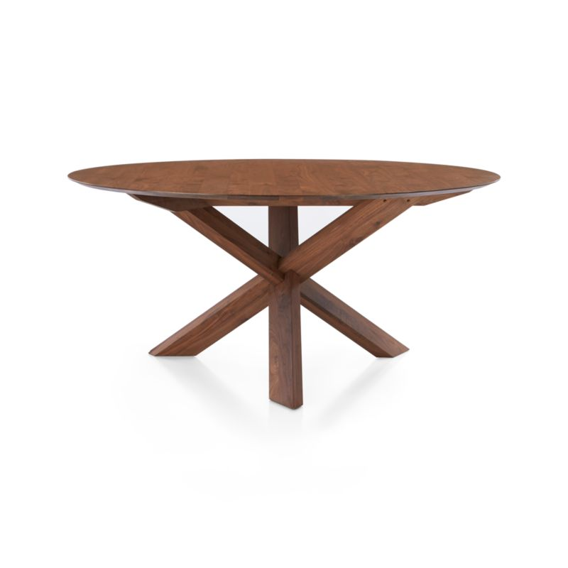 Apex 64 Round Dining Table In Apex Collection Crate And Barrel
