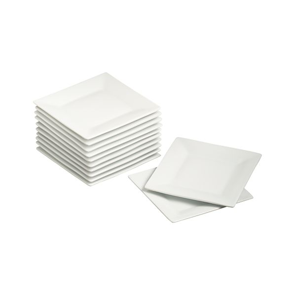 "Set of 12 Boxed 6"" Appetizer Plates"