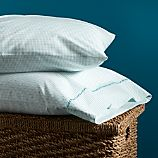 Set of 2 Aqua Beads Standard Pillowcases