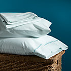 Aqua Beads Queen Sheet Set. Includes one flat sheet, one fitted sheet and two standard pillowcases.