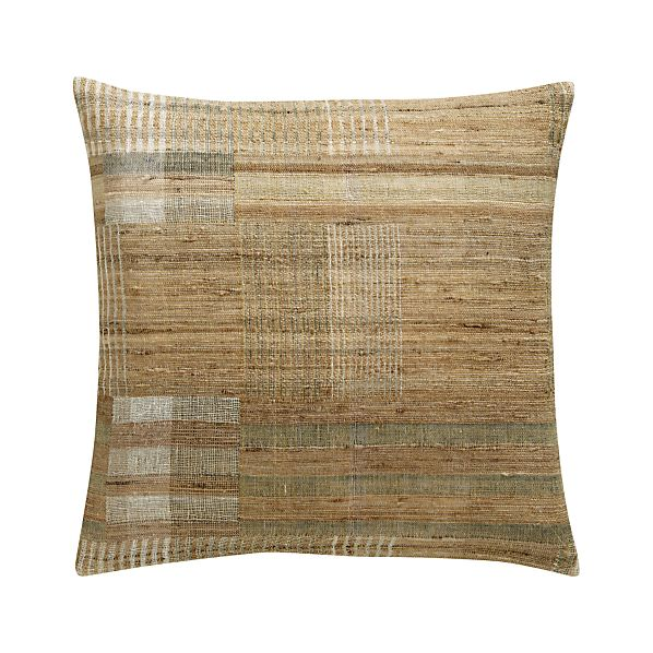 "Arabia 20"" Pillow with Feather-Down Insert"