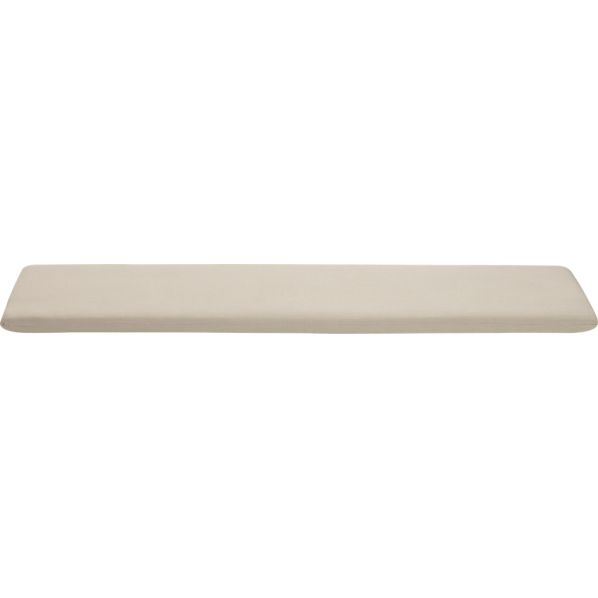 Arbor Sunbrella® Stone Dining Bench Cushion