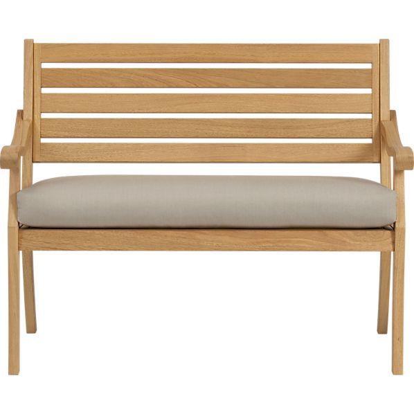 Arbor Garden Bench with Sunbrella® Stone Cushion