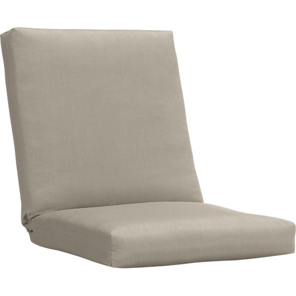Arbor Sunbrella® Stone Lounge Chair Cushion