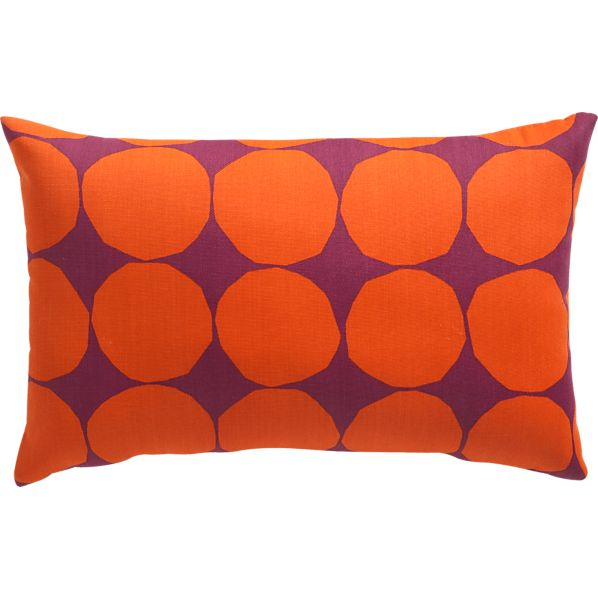 "Marimekko Pienet Kivet Caliente 20""x13"" Outdoor Pillow"