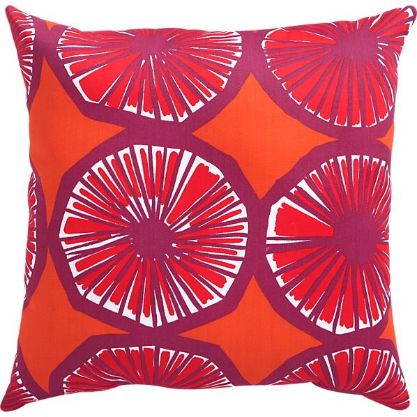 "Marimekko Appelsiini Caliente 20"" Sq. Outdoor Pillow"