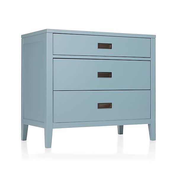 Arch Blue Three-Drawer Chest