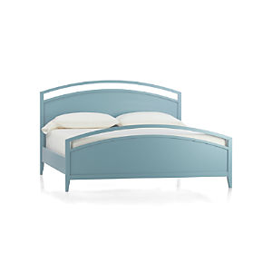 Arch Blue King Bed