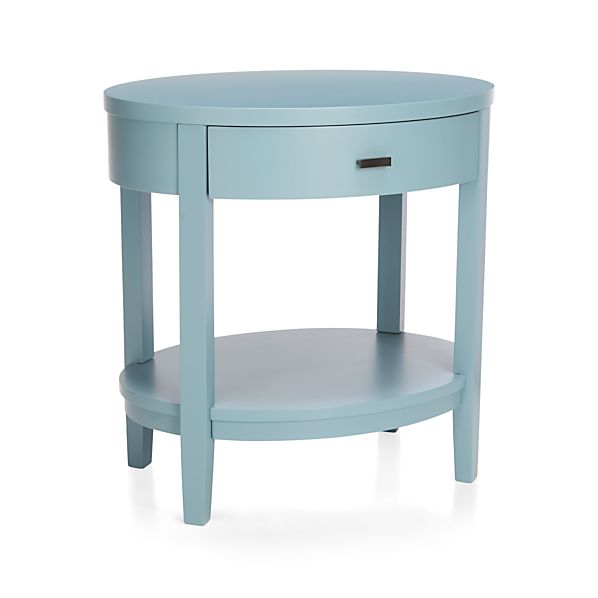 Arch Blue Oval Nightstand