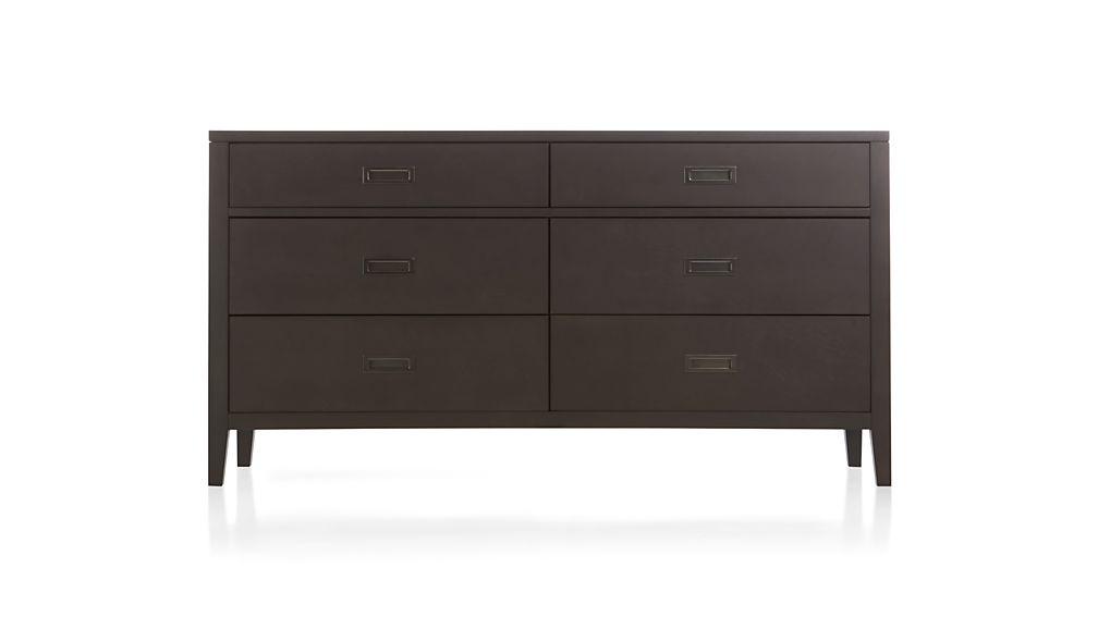 Arch Charcoal 6-Drawer Dresser