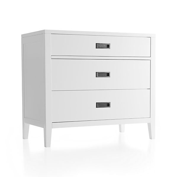 Arch White Three-Drawer Chest