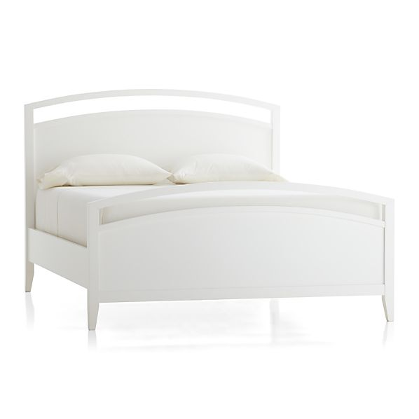 Arch White Queen Bed In Beds Headboards Crate And Barrel