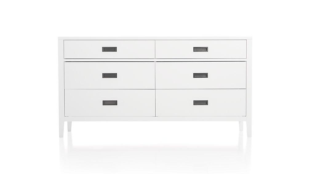 Dresser Dimensions 6 Drawer White 6-drawer Dresser