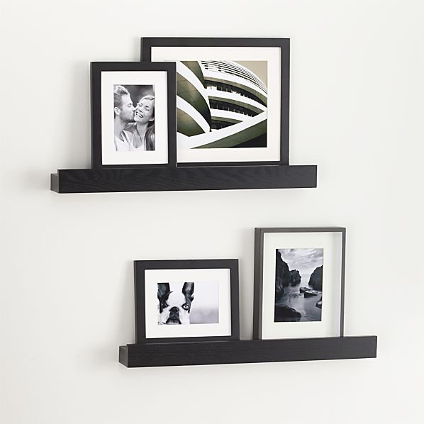 "Archetype 24"" Black Photo Ledges Set of Two"