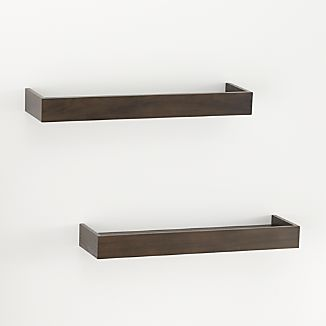 "Set of 2 Archetype 24"" Brown Ledges"