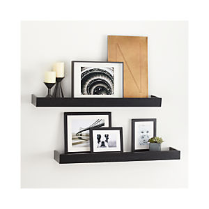 "Archetype 36"" Black Ledges Set of Two"