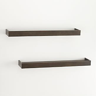 "Set of 2 Archetype 36"" Brown Ledges"