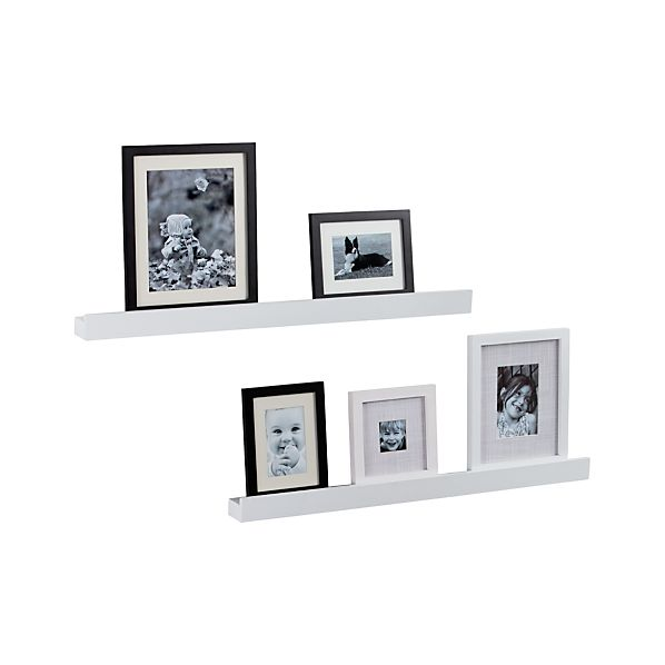 "Archetype 36"" White Photo Ledges Set of Two"