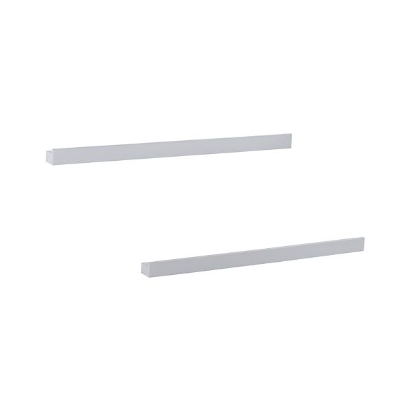 "Set of 2 Archetype 36"" White Photo Ledges"