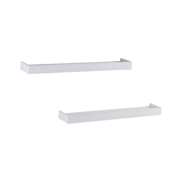 "Set of 2 Archetype 36"" White Ledges"