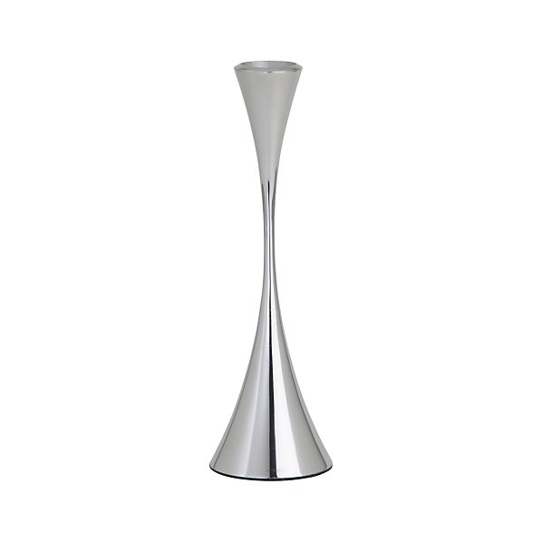 Arden Small Mirrored Stainless Steel Taper Candle Holder