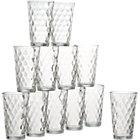Set of 12 glass tumblers. 16 oz.