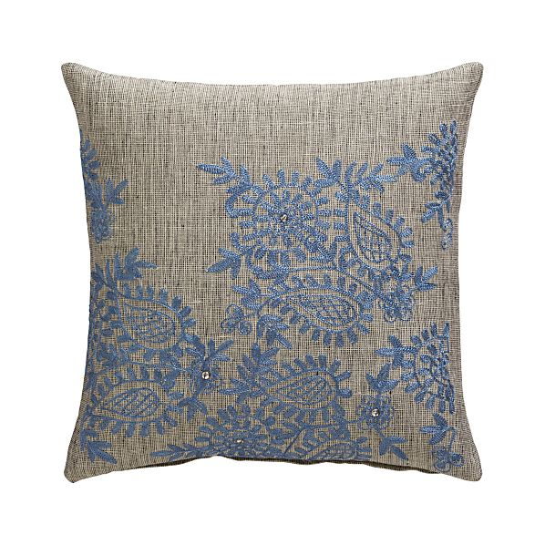 "Ariella 12"" Pillow with Feather-Down Insert"