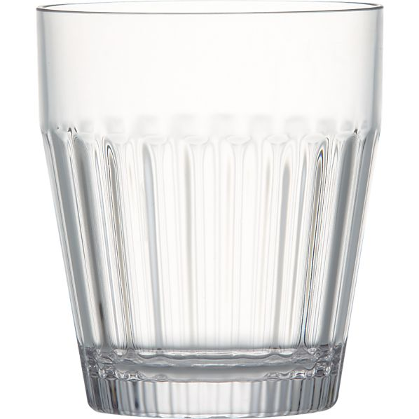 Arlo Acrylic Double Old-Fashioned Glass