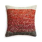 Arlo Red Pillow with Feather Insert.