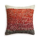 "Arlo Red 20"" Pillow with Down-Alternative Insert"