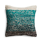 Arlo Turquoise Pillow with Down-Alternative Insert.