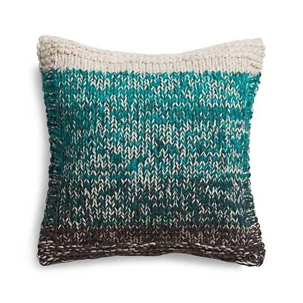 "Arlo Turquoise 20"" Pillow with Feather Insert"