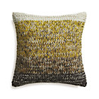 Arlo Yellow Pillow with Feather Insert.