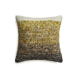 "Arlo Yellow 20"" Pillow with Feather Insert"