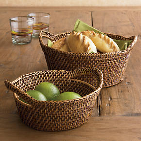 Artesia Bread-Cracker Baskets with Handles