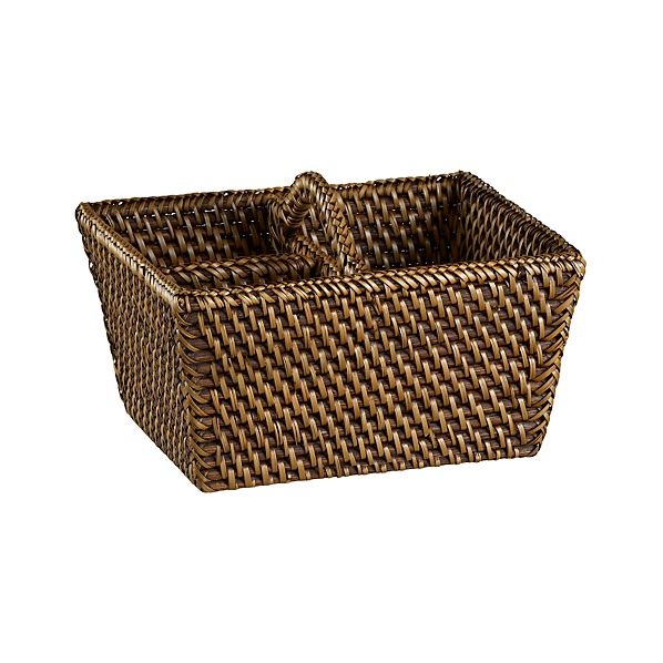 Artesia Flatware Caddy in Serving Baskets | Crate and Barrel