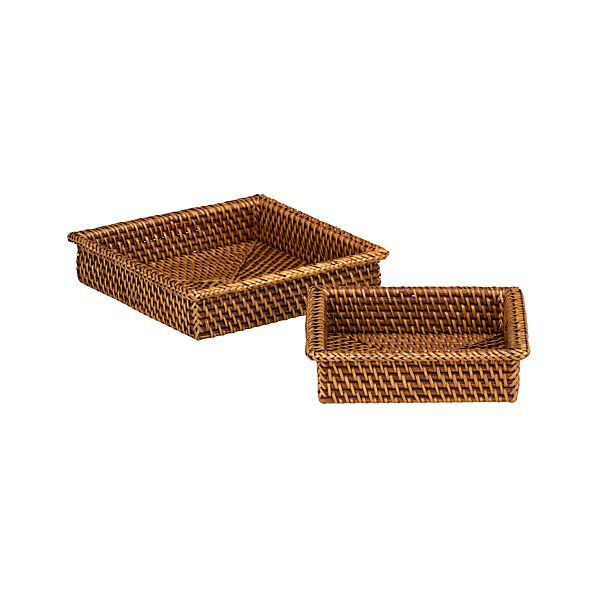 Set of 2 Artesia Napkin Baskets