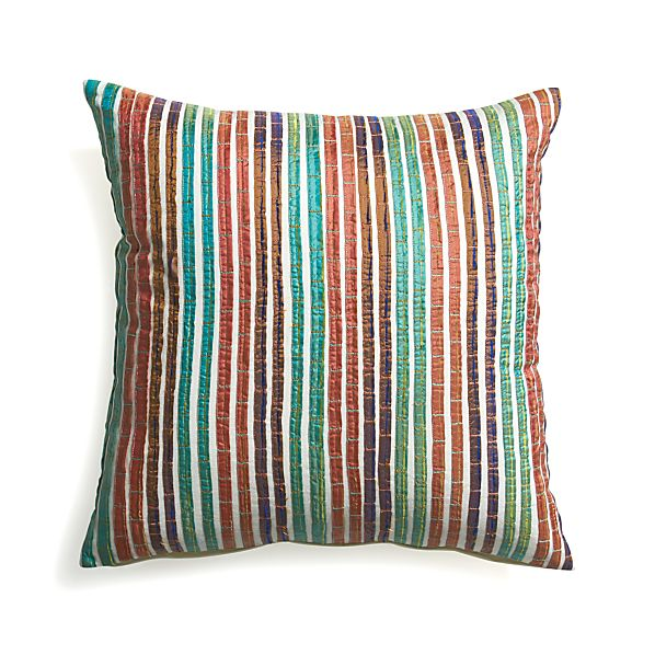"Artie 18"" Pillow with Feather-Down Insert."