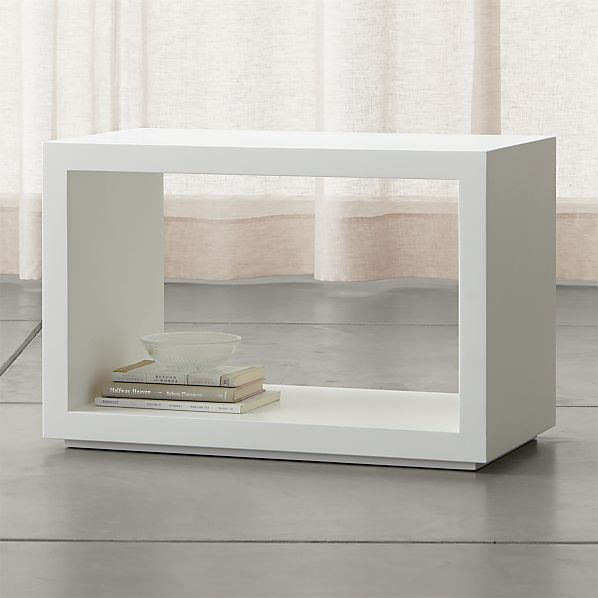 "Ascend II White 27"" Open Storage Unit"